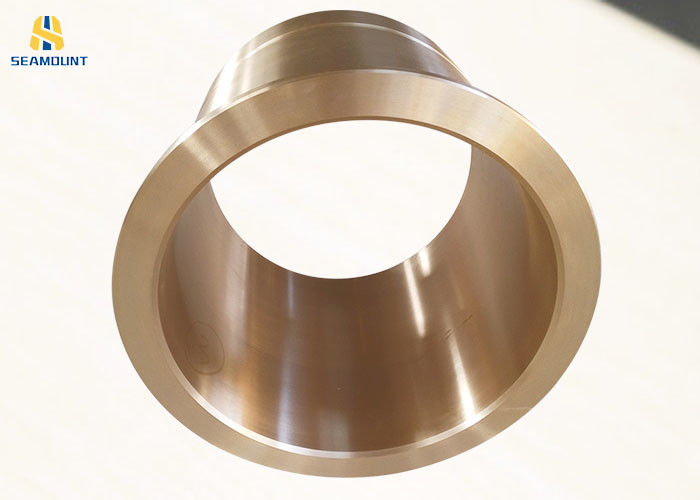 Wear Resistant Flange Bronze Bushings Long Life With Oil Groove